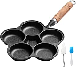 Kitchen Nonstick Frying Pans 4/6 Holes Omelet Pan for Burger Eggs Ham Pancake Maker, with Anti-Scald Handle, Non-Stick Fry...