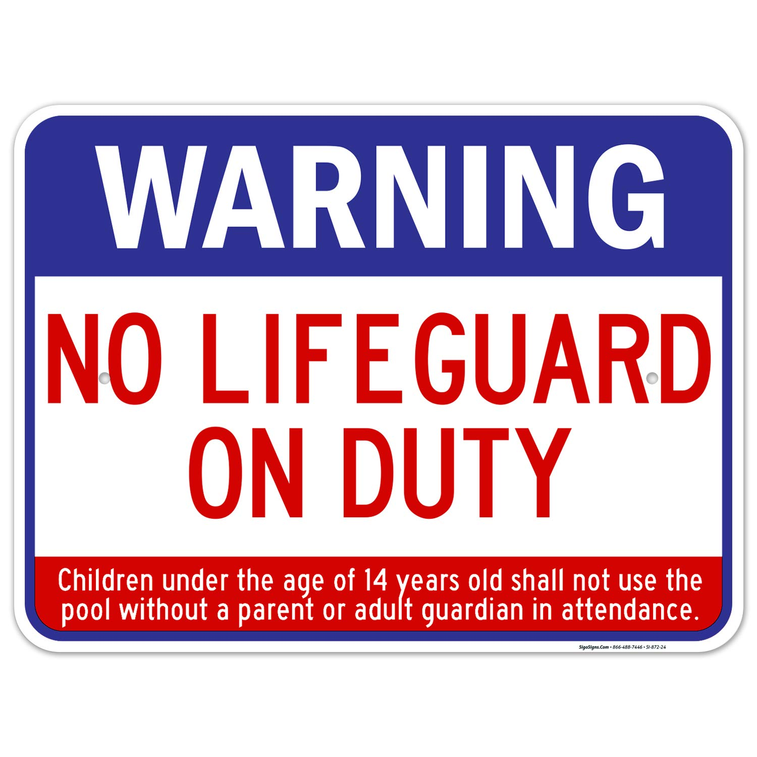 In stock Swimming Pool Sign Warning No Duty On It is very popular Lifeguard