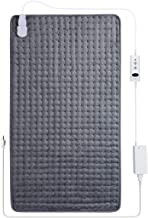 """Sable Heating Pad for Back Pain and Cramps Relief - Extra Large [17""""x33""""] - Electric Heating Pad with Moist & Dry Heat Therapy Options - Auto Shut Off - 10 Heat Settings- Hot Heated Pad"""