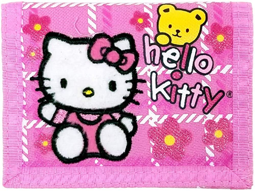 Hello Kitty Trifold Wallet w Bear Licensed Special Campaign mart 8 Gift Toys New Pink