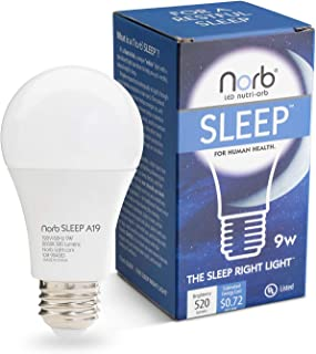 Bedtime Bulb; Natural Sleep Aid, Adult & Baby Light, Supports Healthy Sleep, Melatonin Production, Circadian Rhythms, Fights Insomnia. Low Blue LED Light Bulb with Natural Color