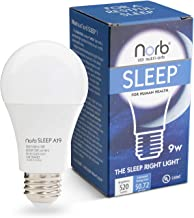 Sleep Light Bulb for Evening / Bedtime; NorbSLEEP for Baby & All Ages