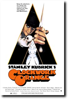 Mile High Media A Clockwork Orange Movie Poster 24x36 Inch Wall Art Portrait Print - Malcolm McDowell