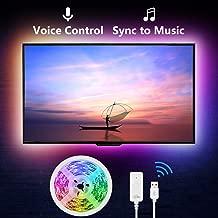 NiteBird Smart TV Backlight Work with Alexa Google Home,Sync to Music WiFi LED TV light..
