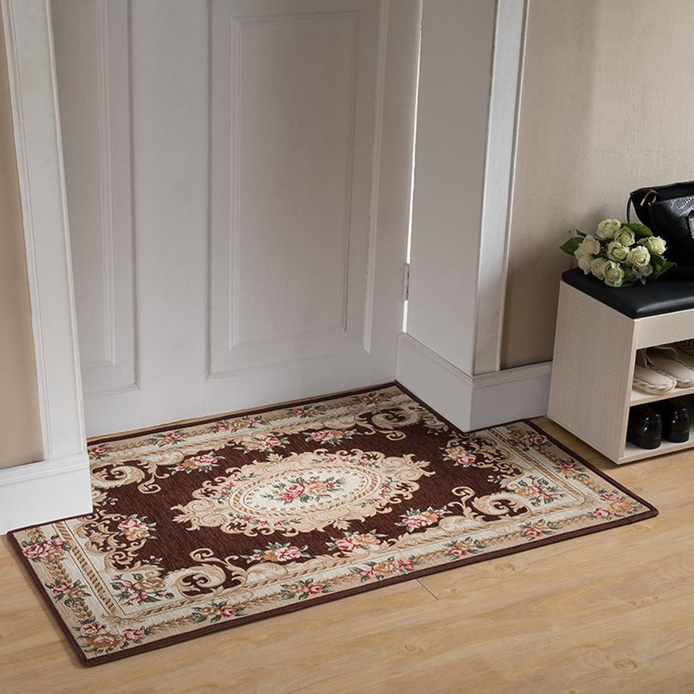 European-Style Entrance Door mats Door Entrance Floor mats Bedroom Kitchen Bathroom Water Slip Door mat Step pad-J 90x90cm(35x35inch)