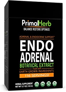 Adrenal Support | by Primal Herb | Stress Relief and Adrenal Fatigue Supplement | Rhodiola Rosea Plus+ 8 Herbal Extracts |...