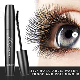 Kayla-Ism Mascara Black | 4D Silk Fiber Eyelash Mascara | 360° Rotatable, Waterproof..