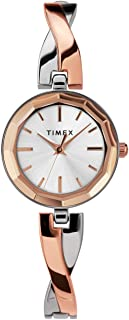 Timex Women's Dress 26mm Watch – Two-Tone with Rose Gold-Tone Accents & Bracelet