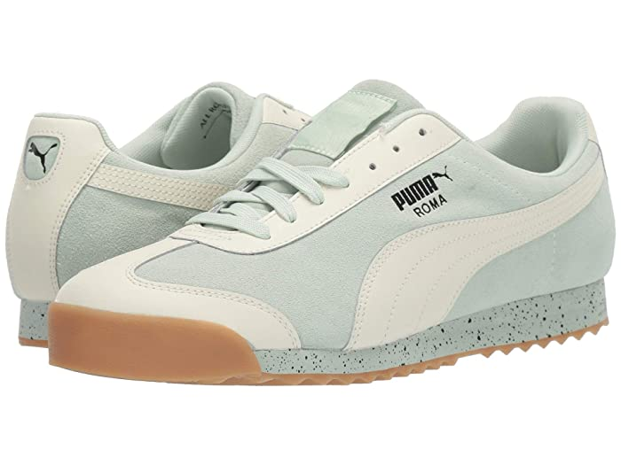 Vintage Sneakers for Men and Women PUMA Roma Classic Dolce Vita SprayMeadow Mist Mens Shoes $57.05 AT vintagedancer.com