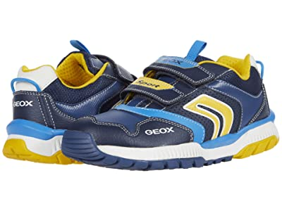 Geox Kids Tuono 3 (Big Kid) (Navy/Yellow) Boy