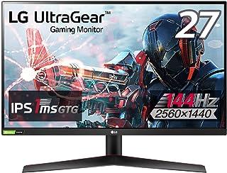 【Amazon.co.jp 限定】LG フレームレス ゲーミングモニター UltraGear 27GN800-B 27インチ/WQHD(2560×1440)/IPS非光沢/144Hz/1ms(GtoG)/G-SYNC Compatible,Fr...
