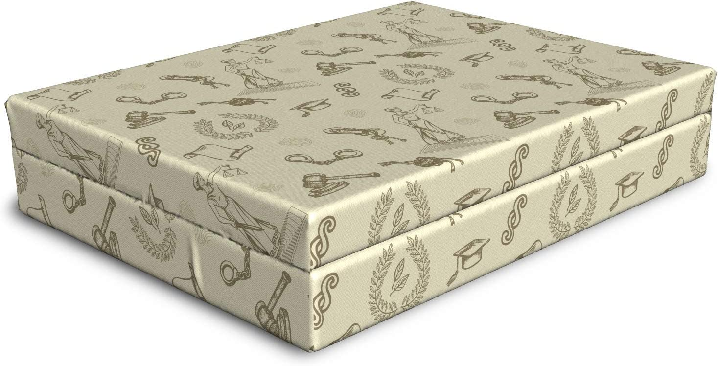 Ambesonne Vintage Dog Bed Repetitive Year-end gift Grunge Ranking TOP15 and Sketchy Justice