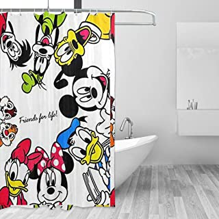 WWHYH Mitch Family Printed Shower Curtain,Polyester Fabric Bathroom Decor Set with Hooks, 60
