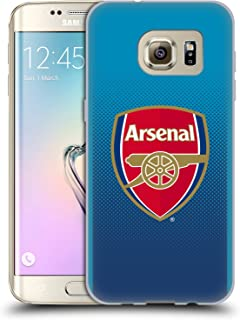 Official Arsenal FC Away 2017/18 Crest Kit Soft Gel Case Compatible for Samsung Galaxy S7 Edge