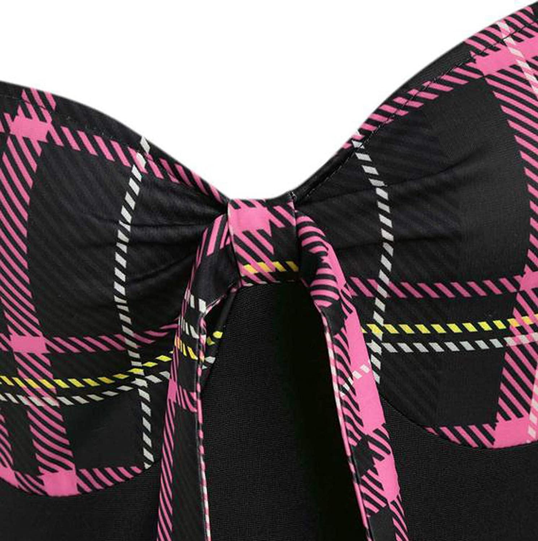 DOGZI Millenniums Femme Steampunk Gothic Robes /Él/égant R/étro Princesse M/édi/évale Robe Halloween Cosplay Costume /À Manches Longues sans Bretelles Robe Impression Treillis Vintage Boutons Robe