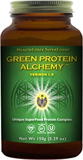 HealthForce SuperFoods Green Protein Alchemy Magic Mint - 150 grams - All Natural Plant Based Protein Powder, Made From Whole Foods - Vegan, Gluten Free - 6 Servings