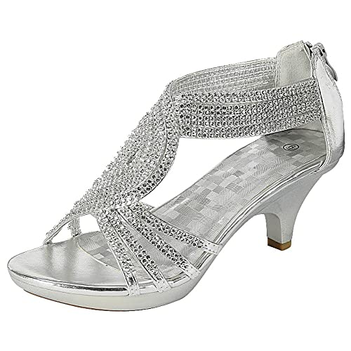 244b904a545c7 Silver Strappy Sandals with Low Heels: Amazon.com