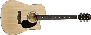 Fender 0930307021 SA-105CE Dreadnought Cutaway Electric Guitar - Natural