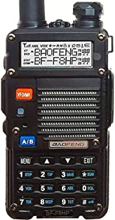 BaoFeng BF-F8HP (UV-5R 3rd Gen) 8-Watt Dual Band Two-Way Radio (136-174MHz VHF & 400-520MHz UHF) Includes Full Kit with La...