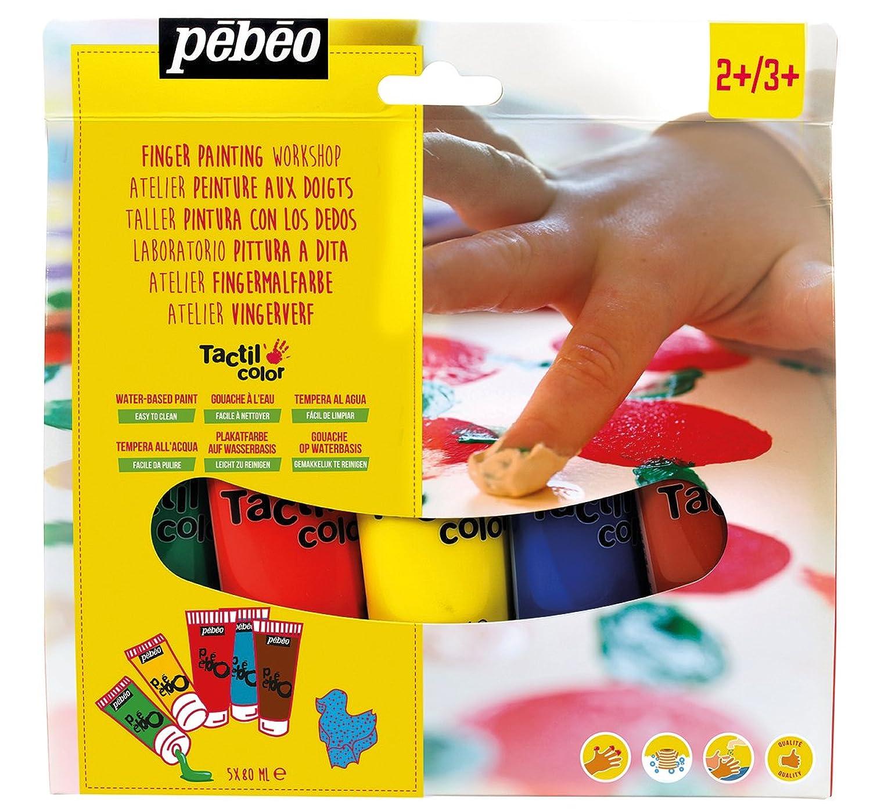 PEBEO 633430 Tactilcolor Art Paint Kit, 5 x 80ml