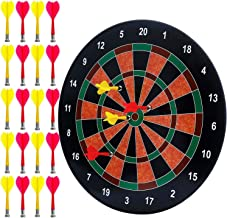 BETTERLINE Magnetic Dartboard Set with 20 Darts - 16 Inch Dart Board - Safe for Kids and Adults - Gift for Game Room, Offi...