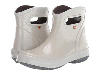 Bogs Rain Boots Ankle Glitter (Silver) Women
