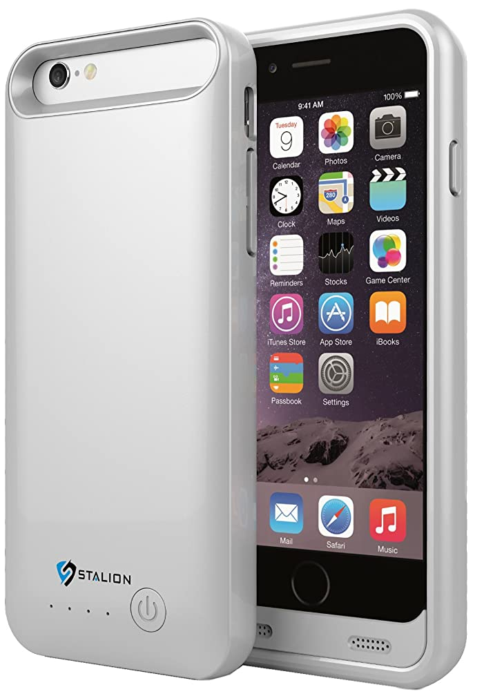 iPhone 6 Battery Case: Stalion Stamina Rechargeable Extended Charging Case 3100mAh (Space Gray)[Apple MFi Certified] for iPhone 6 & iPhone 6s (4.7-Inches)