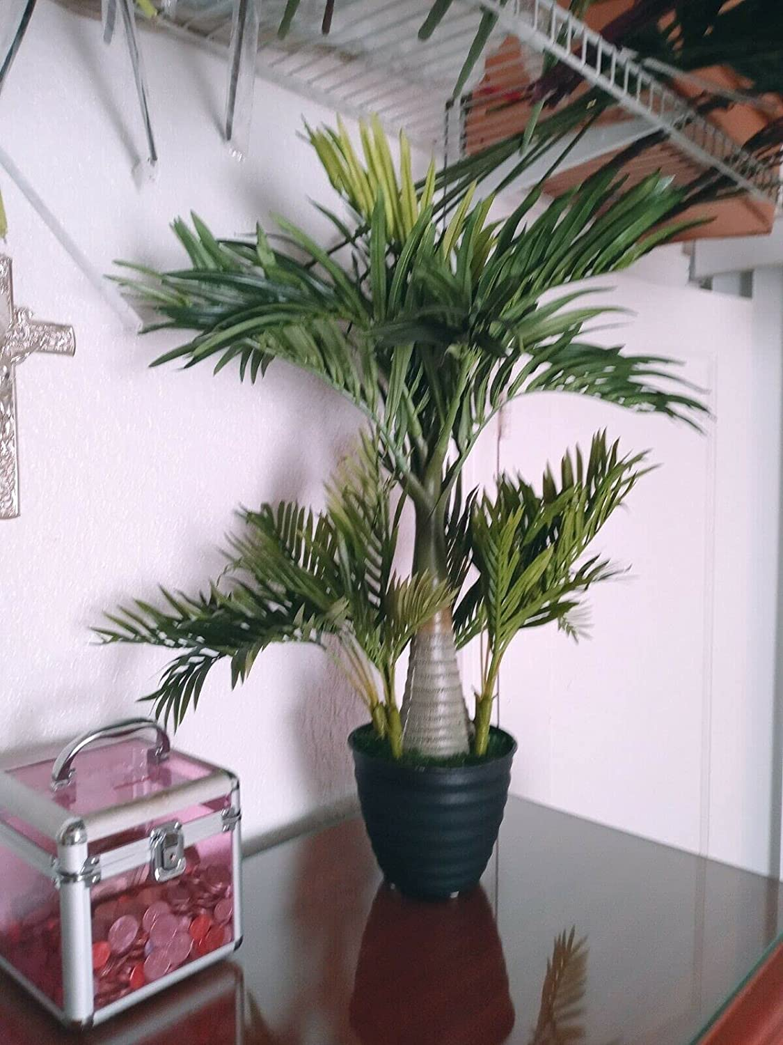 Artificial Quantity limited Bottle Palm Tree Flower New Free Shipping Silk Arrangements Floral