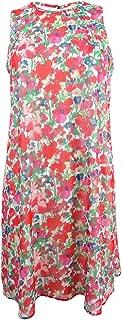 Women's Floral-Print Chiffon Shift Dress