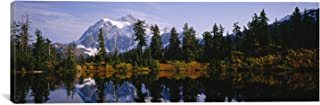 iCanvasART Mt. Rainier National Park Trees and Mountains, Washington State by Panoramic Images Canvas Art Print, 60 by 20-Inch