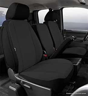 Fia SP89-38BLACK Seat Protector Custom Seat Cover; Poly-Cotton; Black; Front; Split Seat 40/20/40; Adj. Headrests; Airbag; Armrest/Storage w/Cup Holder; Cushion Storage; Incl. Head Rest Cover;