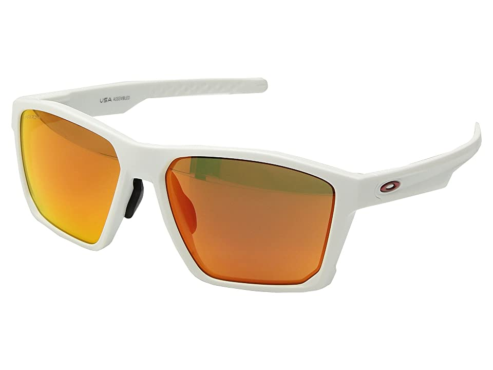 Oakley Targetline (A) (Matte White w/ Prizm Ruby) Athletic Performance Sport Sunglasses