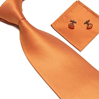 SZPP Men Tie sets cufflinks Ties Fashion accessories Work black Blue Red Wedding ties Pocket Handkerchief
