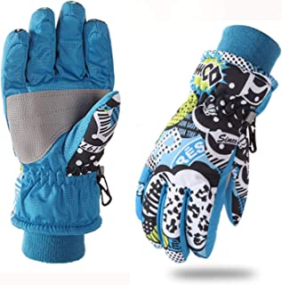 FitTrek Guantes Invierno Niño - Guantes Nieve Impermeables
