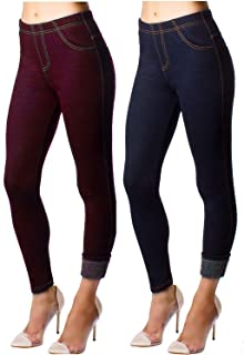 Malvina Soft Comfortable Purple Color Jeggings for Gym Yoga Exercise and Office for Women with Denim Lining Style