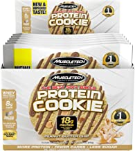 MuscleTech Soft Baked Whey Protein Cookie, Peanut Butter, Gluten-Free, 3.25-Ounce (Pack of 6-92g)