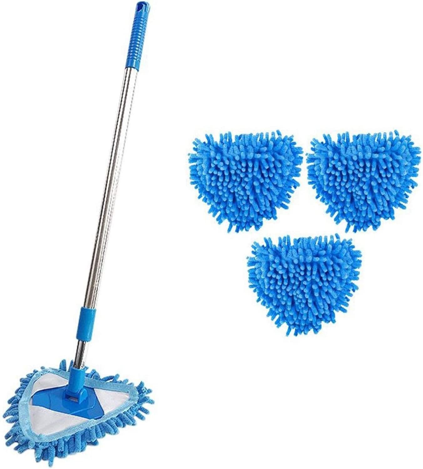 Blue Mini Microfiber Mop Rotatable 180 B to Clean Max Manufacturer OFFicial shop 85% OFF Easy Degrees
