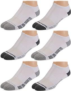 Mens' Breathable No-Show Low Cut Basic Cushion Socks (6 Pack)