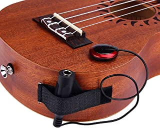 Hot Sale! Acoustic Guitar Pickups, Piezo Contact Microphone Transducer For Acoustic Guitar Ukulele Violin Mandolin Banjo Cello Kalimba Etc Beginners (Round, Red)