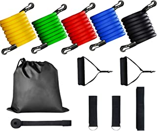 YOLETO 11Pcs Resistance Bands Set, Workout Bands Exercise Equipment with Door Anchor & Ankle Straps for Training, Physical...