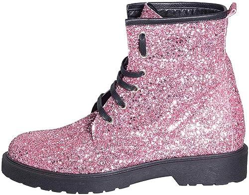 Chaussures Femme en Tissu pailleté Rose Taille 39 Talon 3 cm Made in  DAMIENNE Studio Creations DGR-88 Chaussure avec Semelle Caoutchouc Noire très Confortable Excellente qualité