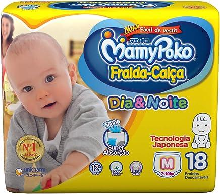 Fralda-Calça MamyPoko DIA&NOITE tamanho M, pacote contendo 18 unidades