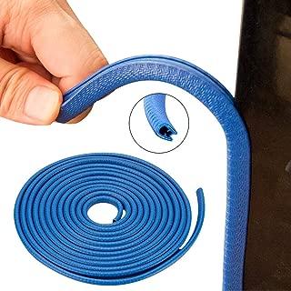 Winunite Car Door Edge Guards Bright Blue 16Ft(5M) Universal Fit Rubber U Shape Edge Trim Car Door Edge Protection