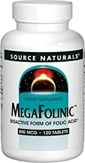 Source Naturals MegaFolinic 800mcg - 120 Tablets