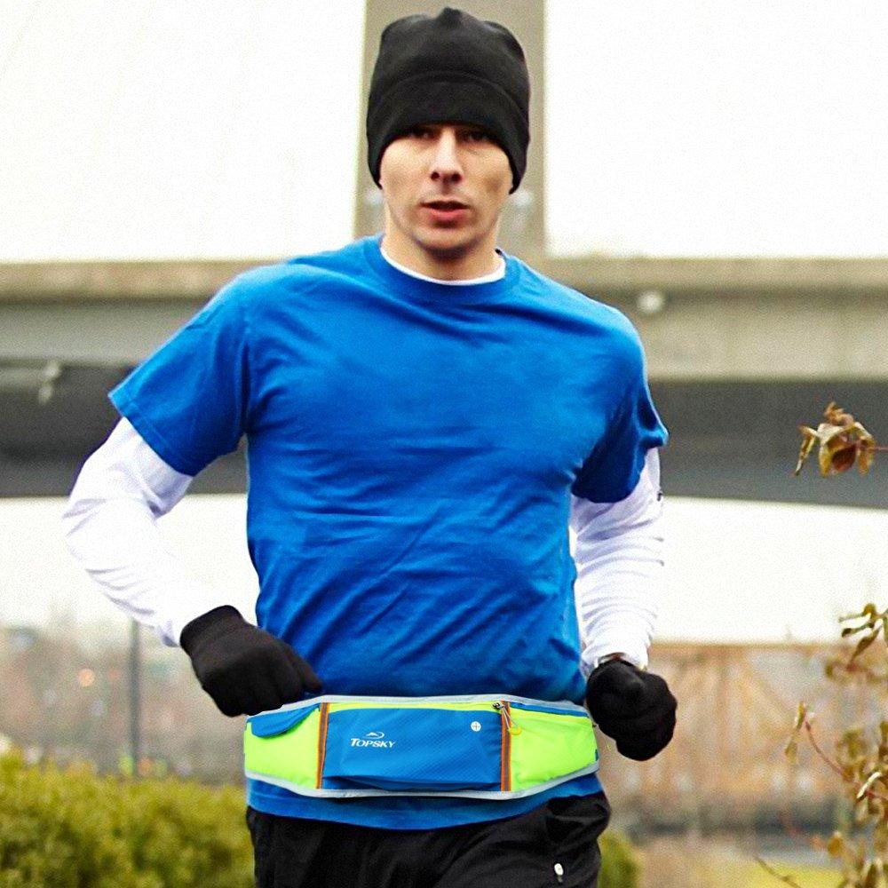 Topskyスポーツランニングポケット男性と女性のマラソン機器超軽量通気性カジュアルミニフィットネスポケット密接な屋外多機能小さなベルト防水音楽電話バッグ30378
