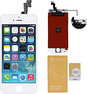 WEELPOWER White LCD Touch Screen Digitizer Glass Replacement Assembly for iPhone SE with Repair Tool(White)