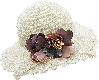 08eb61a11fa Bienvenu Girl Kids Summer Wide Brim Floppy Beach Sun Visor Hat with Flowers