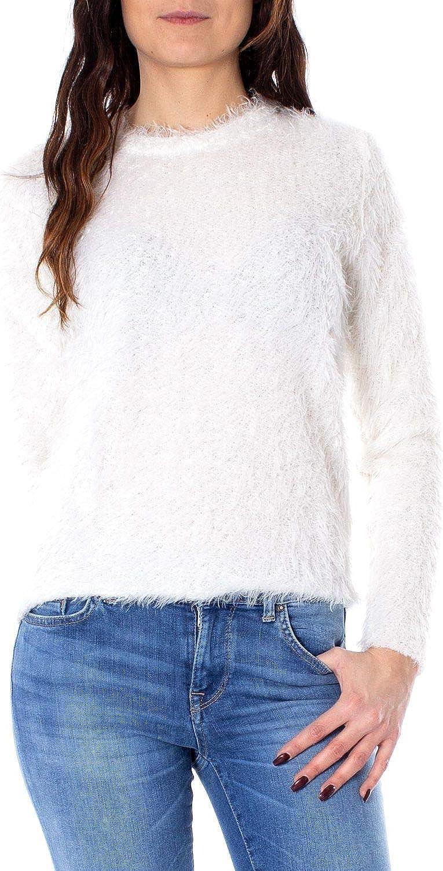 Only Women's 15180776WHITE White Polyester Jumper