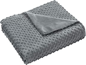 joybest Removable Duvet Cover for Weighted Blanket 48 x 72, Adults Teens Soft Plush Duvet Cover, Grey (Only Duvet Cover)
