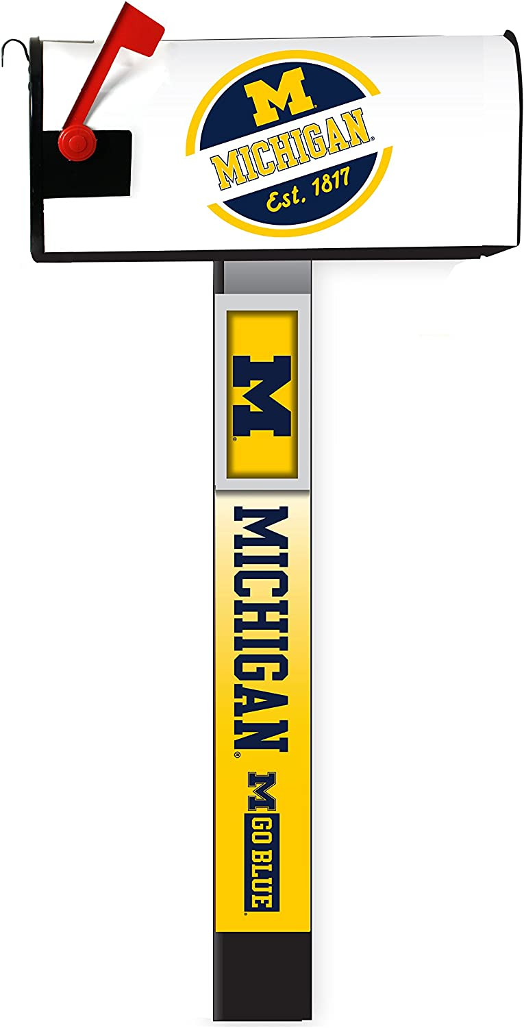 SALENEW very popular! Michigan Wolverines 5 ☆ popular Magnetic Mailbox Cover 2-Pack Post C